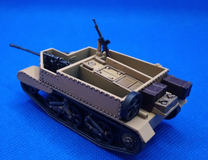 Universal Carrier et canon de 25 mm SA34